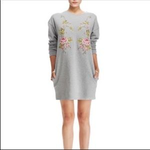 Alexander McQueen Roses Sweatshirt Dress S